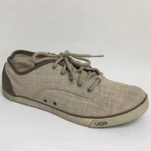 UGG | Halle Natural Canvas Sneakers